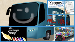 Zappos and the Partridge Family collage